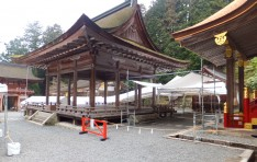 日吉大社東本宮の遷宮テント